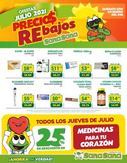 Ofertas de Farmacias SanaSana en el catálogo de Farmacias SanaSana ( Vence mañana)