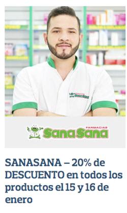 Cupón Farmacias SanaSana en Puebloviejo ( Publicado ayer )