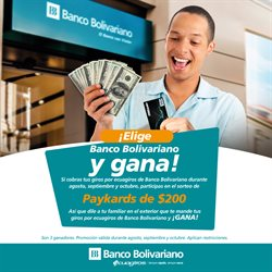 Ofertas de Banco Bolivariano  en el folleto de Quito