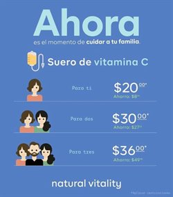 Ofertas de Salud y Farmacias en el catálogo de Natural Vitality en La Troncal ( 4 días más )