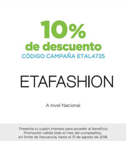 Ofertas de ETAfashion  en el folleto de Quito