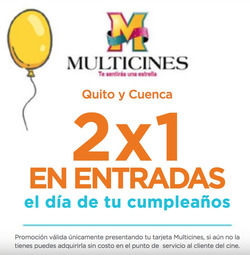 Ofertas de Multicines  en el folleto de Quito