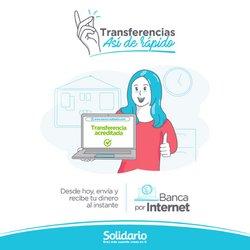 Ofertas de Bancos en el catálogo de Banco Solidario Conmigo ( Más de un mes)