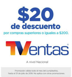 Ofertas de TVentas  en el folleto de Quito