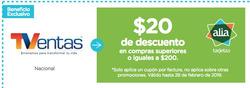 Ofertas de TVentas  en el folleto de Ibarra