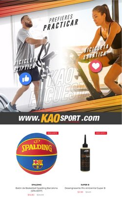 Ofertas de Kao Sports Center en el catálogo de Kao Sports Center ( 12 días más)