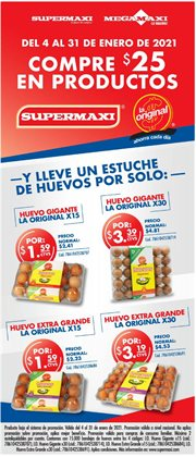 Ofertas de Supermercados en el catálogo de Supermaxi en Naranjito ( 4 días más )