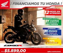 Ofertas de Honda Motos  en el folleto de Quito