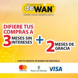Ofertas de deWan  en el folleto de Guayaquil