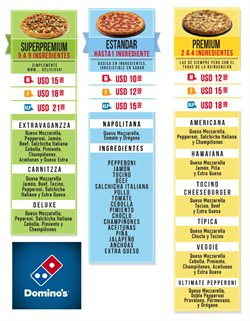 Ofertas de Restaurantes  en el folleto de Domino's Pizza en Quito