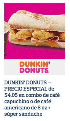 Cupón Dunkin' Donuts en Pichincha ( Más de un mes )