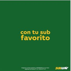 Ofertas de Subway  en el folleto de Quito
