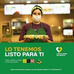 Ofertas de Restaurantes en el catálogo de Subway en Gualaceo ( 22 días más )