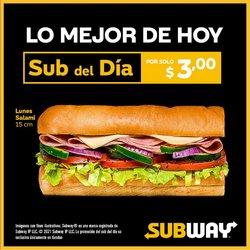 Ofertas de Restaurantes en el catálogo de Subway ( Vence mañana)