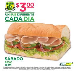 Ofertas de Subway  en el folleto de Quito