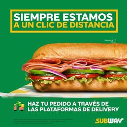 Cupón Subway ( 2 días más )