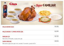 Ofertas de Pollo Gus  en el folleto de Quito