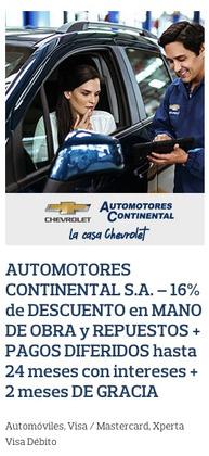 Cupón Chevrolet en Manta ( Más de un mes )
