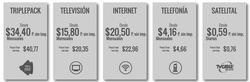 Ofertas de TV Cable  en el folleto de Manta