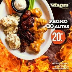 Ofertas de Restaurantes en el catálogo de Wingers ( 4 días más)