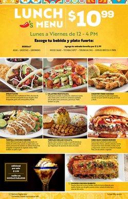 Ofertas de Restaurantes en el catálogo de Chili's ( Más de un mes)