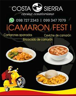 Ofertas de Restaurantes en el catálogo de Costa Sierra en Manta ( 15 días más )