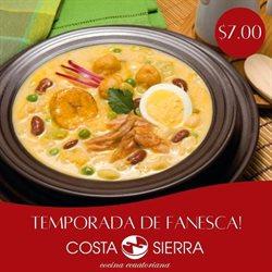 Ofertas de Restaurantes en el catálogo de Costa Sierra en Pasaje Canton ( 2 días más )