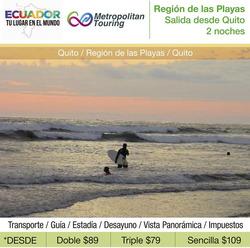 Ofertas de Metropólitan Touring  en el folleto de Quito