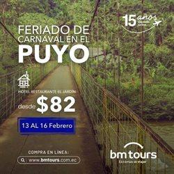 Ofertas de Viajes y Ocio en el catálogo de BM Tours en Ibarra ( Publicado ayer )