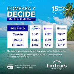 Cupón BM Tours en Quito ( Más de un mes )