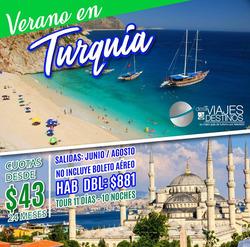 Ofertas de Viajes y Destinos  en el folleto de Quito