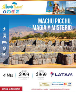 Ofertas de Lluvia Travel  en el folleto de Quito