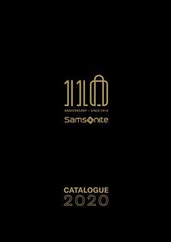 Catálogo Samsonite ( Más de un mes )