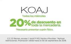 Ofertas de Koaj  en el folleto de Guayaquil