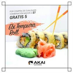 Ofertas de Akai Sushi Express  en el folleto de Guayaquil