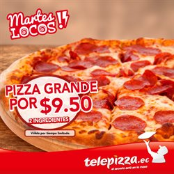 Ofertas de Telepizza  en el folleto de Quito