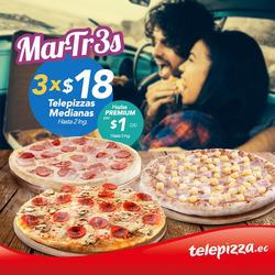 Ofertas de Telepizza  en el folleto de Guayaquil