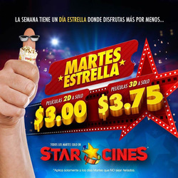 Ofertas de Star Cines  en el folleto de Ibarra