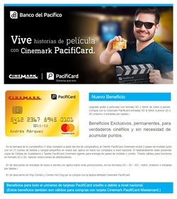 Ofertas de Cinemark  en el folleto de Quito
