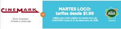 Ofertas de Cinemark  en el folleto de Guayaquil