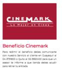 Cupón Cinemark ( 18 días más )
