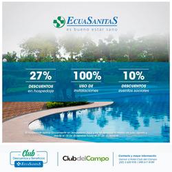 Ofertas de ecuasanitas  en el folleto de Quito