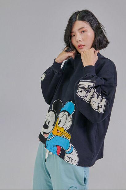 Oferta de Buzo cuello redondo con estampado de Mickey y Donald por 69900€