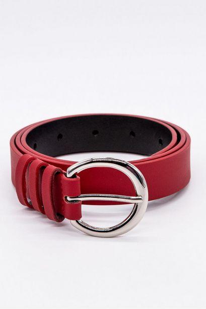 Oferta de Cinturon unicolor rojo hebilla plateada por 39900€