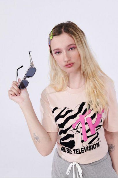 Oferta de Camiseta manga corta estampada de MTV. por 25900€