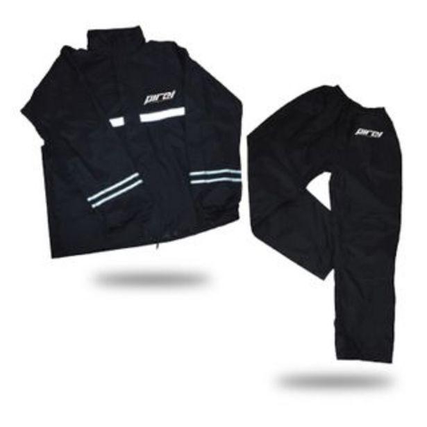 Oferta de PIREL - Impermeable PIR-RS01 | Negro Talla L por 29,99€