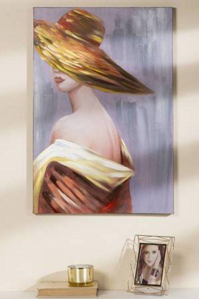 Oferta de Cuadro Mujer con Sombrero Yiwu por 69,99€