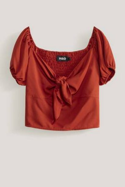 Oferta de Blusa Unicolor con Nudo H&O por 12,99€