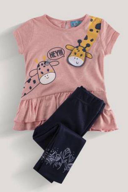 Oferta de Blusón Estampado con Vuelos + Leggings Baby Kiddo por 27,99€
