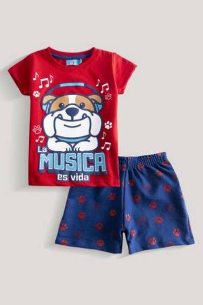 Oferta de Camiseta Estampada + Bermuda Baby Kiddo por 16,99€